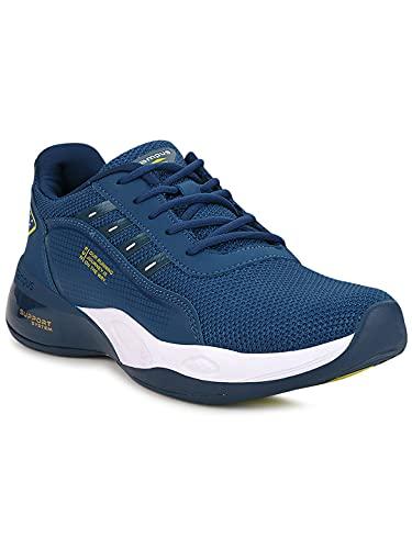 Campus Men's Terminator (N) M.BLU/LMN Running Shoes -8 UK