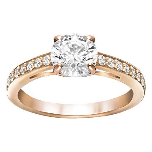 SWAROVSKI Damen-Ringe Edelstahl Kristall '- Ringgröße 60 5184204