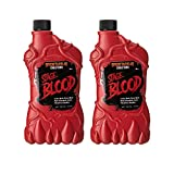 Spooktacular Creations 2 Packs of 18 oz Fake Halloween Vampire Blood Bottle for Halloween Costume, Zombie, Vampire and Monster Makeup & Dress Up