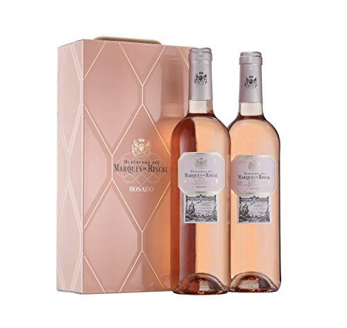 Marqués de Riscal - Vino Rosado Denominación de Origen Calificada Rioja - Estuche 2 botellas x 750 ml - Total 1500 ml