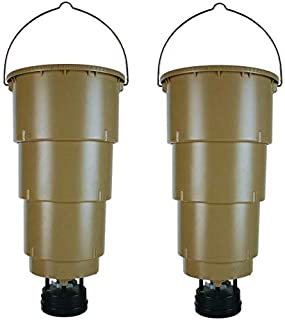 NEW! (2) MOULTRIE 5 Gallon All in One Hanging Deer Feeders w/ Adjustable Timer