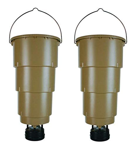 Moultrie 5 gal Hanging Deer Game Feeder w/ Programmable Timer, No Assembly, 2pk