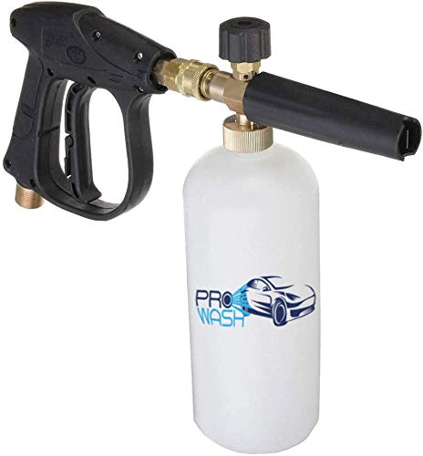 ProWash Car Wash Kit - High Pressure Washer Gun w/Soap Foam Blaster and 5 Washer Nozzles - Quick Connector to Any Garden Hose Florida