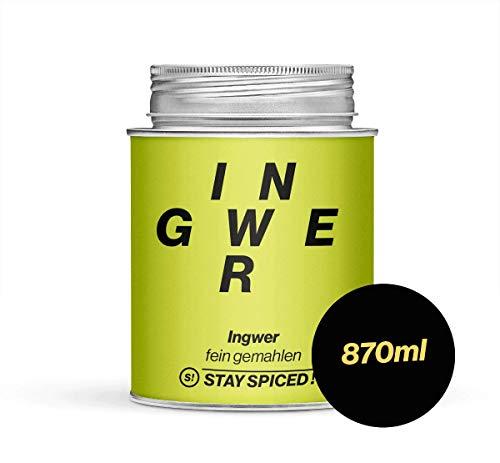 STAY SPICED ! Ingwerpulver I Reingewürz I Natürliches Vitamin C hochdosiert I Fein gemahlen I 870 ml