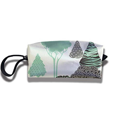 Bbhappiness Pouch Handbag Cosmetics Bag Case Purse Travel & Home Portable Make-up Receive Bag Forest Pattern
