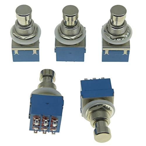 Dopro Juego de 5 interruptores de pedal con efecto de guitarra eléctrica Stomp de 9 pines 3PDT, color azul