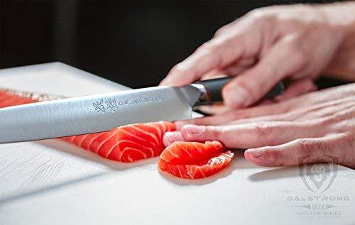 "DALSTRONG Yanagiba Sushi Knife - 9.5"" - Phantom Series - Japanese High-Carbon - AUS8 Steel - Pakkawood Handle - w/Sheath"