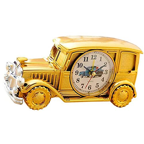 Aiong Reloj Despertador, Reloj con Forma de Coche Antiguo, Reloj Despertador de Escritorio Retro, luz Nocturna, mesita de Noche, Dormitorio, Oficina