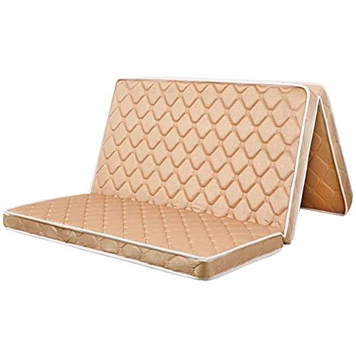 3e Coir Colchón, colchón plegable de tres pliegues Cojín de colchón ortopédico de fibra de coco Alfombrilla de tatami portátil Alfombrilla de suelo de tatami sensación firme Quiet-d-gray 100x200c