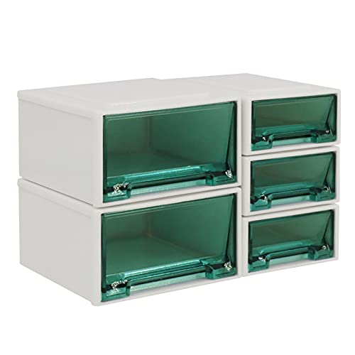 Sonoaud Unids/Set Mini Caja De Almacenamiento Soporte De Almacenamiento De Ropa De Cajón En Miniatura De Plástico Portátil Único, Simulación De Decoración De Muebles Regalo para Niños Pequeños Verde