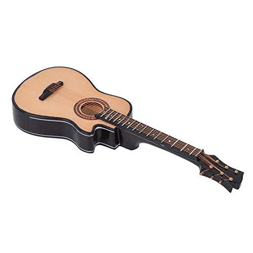 Ichiias Decoración de Modelo de Guitarra, Modelo de Guitarra clásica, Regalos Decorativos acústicos, Guitarra en Miniatura, para decoración de Escritorio, Oficina, Festival, decoración,(20cm)