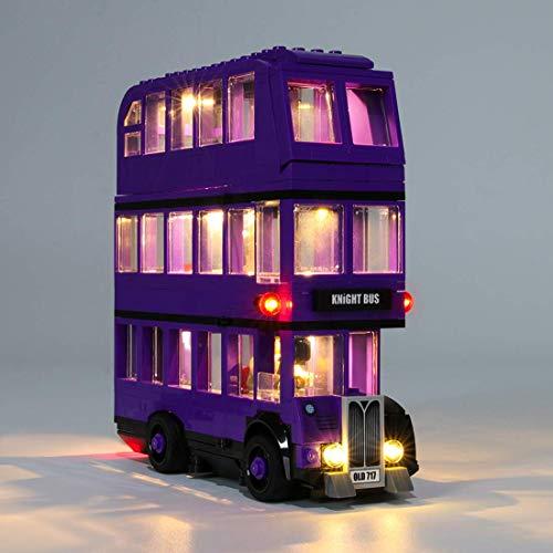 LINANNAN Kit de iluminación LED para Lego 75957, Conjunto de Luces USB Compatible con Lego Knight Bus 75957 Bloques de construcción (no Incluyen el Conjunto Lego)