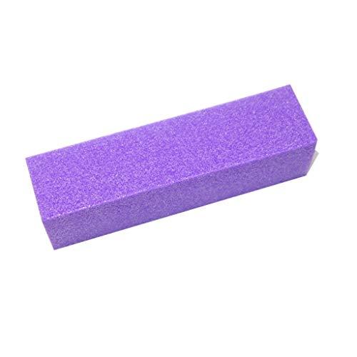 Buffer | Schleifblock | Körnung 100 | Farbe: Lila | Vierseitig | Nagelfeile | 1 Stück