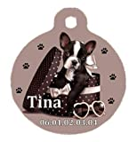 <span class='highlight'><span class='highlight'>Générique</span></span> Personalised Round French Bulldog Puppy Tag with Name of Your Choice