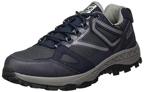 Jack Wolfskin Herren Downhill Texapore Low M Outdoorschuhe, Dark Blue/Grey, 43 EU