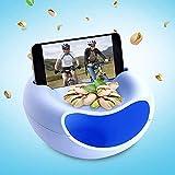 Snack–Cuenco para servir de bol para aperitivos, nueces, núcleos con teléfono móvil soporte...