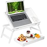 bed tray table breakfast tray with folding legs kitchen food serving tray for notebook computer bed