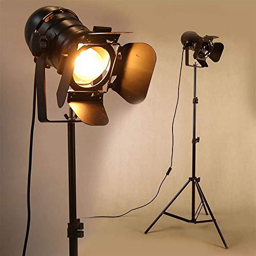 OYGROUP Lámpara de pie LED industrial retro vintage sin atenuación Luz de pie natural de espectro completo con trípode para sala de estar, iluminación (paquete de 2)
