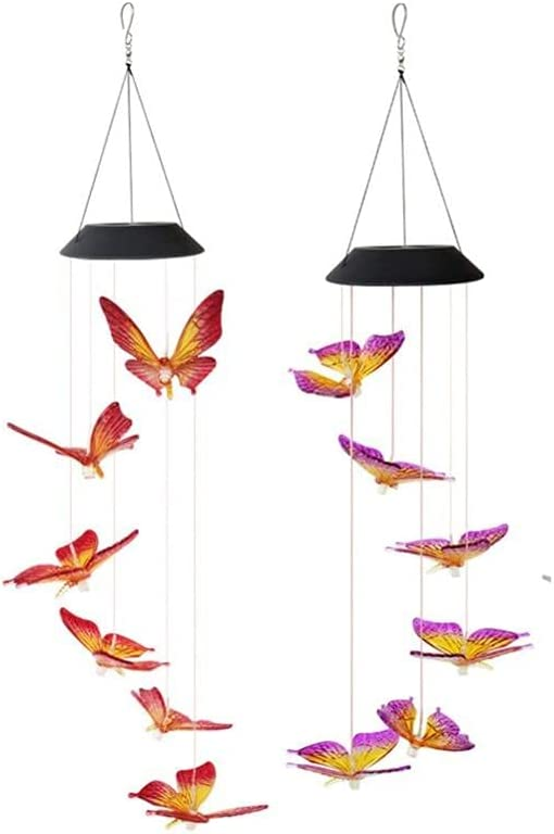 Solar Light LED Colorful OFFicial shop Power Crystal Topics on TV Hummingb Chime Wind