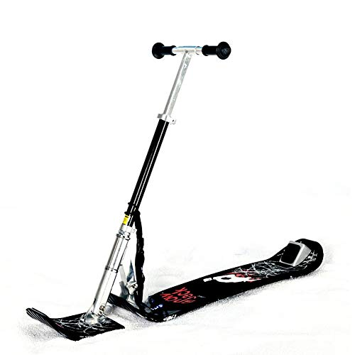 MILECN Patín de esquí con Trineo de Nieve para Todas Las Edades, patín de Nieve Compacto Plegable para Invierno y Patinete de esquí, fácil de Transportar para Exteriores