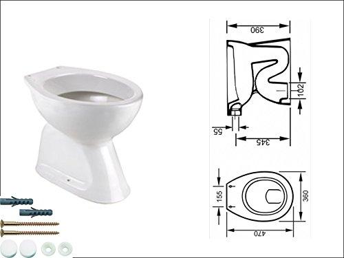 Stand WC Abgang Innen Senkrecht Toilette Tiefspüler + Befestigung