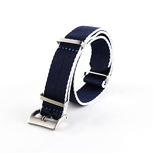 LIANYG Correa De Reloj Correa Nylon WatchBands Watch Strap 20mm Movable Anillo Pulsera 493 (Band Color : 007 No.8, Band Width : 20mm)