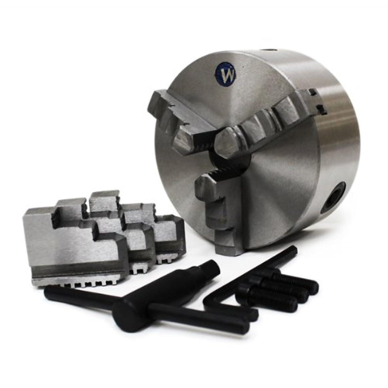 機械的草百WEIMALL 3爪 125mm 旋盤チャック フライス盤用 スクロールチャック