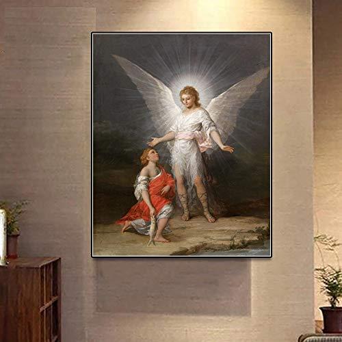 SADHAF Retro Poster Print Canvas Print Mural Picture Woonkamer Kerk Kerst Kamer Decoratie 50x70cm (no frame) A3