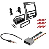 CACHÉ KIT1061 Bundle with Car Stereo Installation Kit for 2013 – 2014 Ford F150 – in Dash Mounting Kit, Antenna, Harness for Single or Double Din Radio Receivers (4 Item)