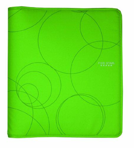 Five Star 1-1/2 Inch Zipper Binder, Ring Binder, Lime (72376)