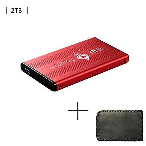 Dosige USB 3.0 Disco Duro Externo SSD Disco Duro Móvil Transferencia Rápida de Disco Duro de Alta Velocidad para Mac PC MacBook Computadora de Escritorio Computadora Portátil USB 3.0 de 2TB