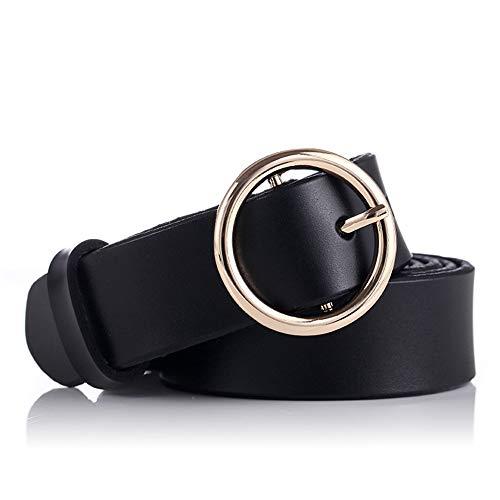 Cinturón de Mujer Elegante Damas Ronda del Pin de la hebilla de...