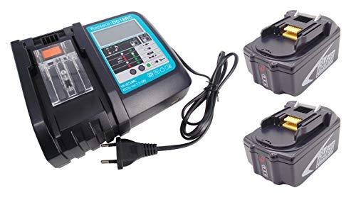 2pcs BL1850B 18V 5000mAh Ersetzen Makita Akku mit 3A Ladegeräte für Makita Radio DMR100 DMR101 DMR102 DMR103B DMR104 DMR105 Sound Devices DMR107 DMR108 DMR200 DMR201