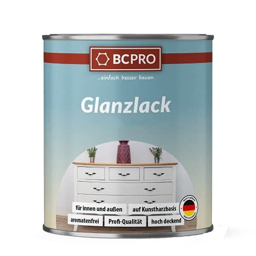BCPRO Glanzlack, Buntlack, Holzlack (750ml, RAL9010 Weiss)