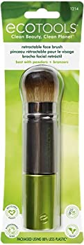 EcoTools Travel Kabuki Makeup Brush for Foundation Blush Bronzer and Powder Retractable