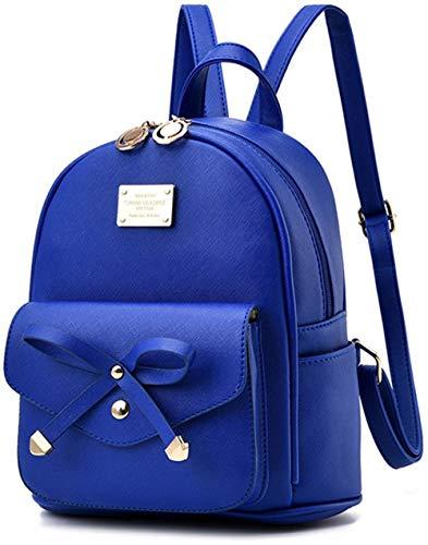 Women Backpack Mini Backpacks Girls Bowknot PU Leather Backpack Purse Cute Shoulder Bags Backpack for Ladies Small Rucksack Teenagers