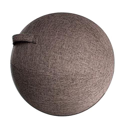 LJGYX Pelota de Yoga Cubierta de Bola de Yoga 65 cm Pilates Sillent Silling Ball Silla Protector a Prueba de Polvo Asignación Seguro y Duradero, Mejora el Equilibrio. (Color : Coffee)