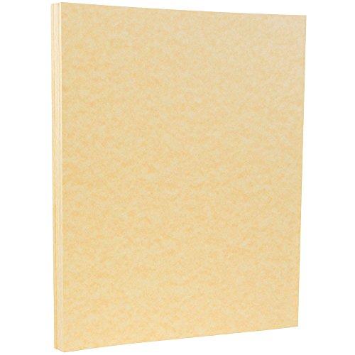 JAM PAPER Parchment 24lb Paper - 8.5 x 11 - Antique Gold Recycled - 100 Sheets/Pack