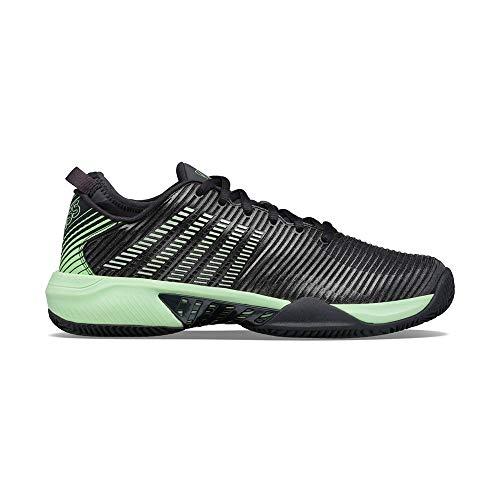 K-Swiss Hypercourt SUPREEHB, Zapatos de Tenis Hombre, Negro/Verde, 44.5 EU