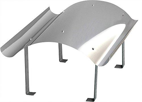 Schornsteinabdeckung Kaminabdeckung Kaminhaube Regenhaube aus Edelstahl (500mm x 500mm)