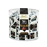 Lindt Excellence 70% Kakao Mini-Schokoladentäfelchen   385g Packung   Einzeln verpackte intensive Edelbitter-Schokolade   Vegane Schokolade   Schokoladen-Großpackung für...