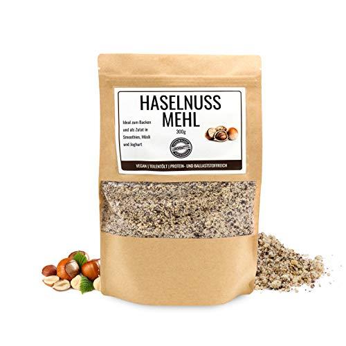Odenwälder Lebensmittel - 300g premium Haselnussmehl Made in Germany - fein gemahlene Haselnüsse Vegan und teilentölt mit viel Protein