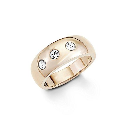 s.Oliver Damen-Ring Swarovski Elements Edelstahl Kristall weiß Gr. 56 (17.8) - 524308