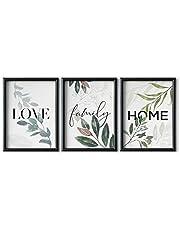 DONLETRA® Set de 3 Láminas Decorativas Nórdicas de LOVE/FAMILY/HOME para Enmarcar - A3 A4 - Decoración de Pared - Cuadros Modernos en Lienzo sin Marco, LSM-SET3-005 (A3)