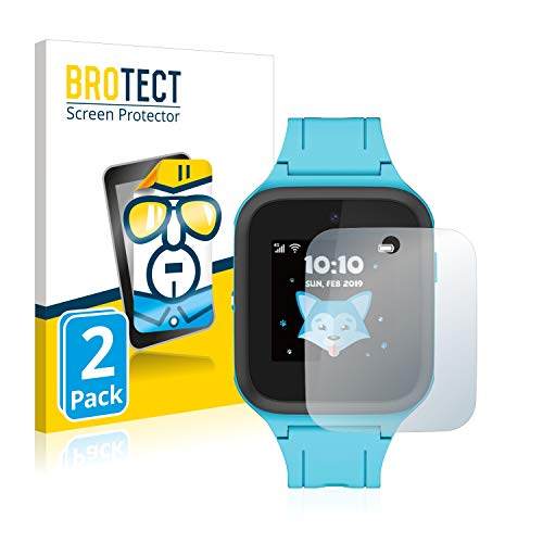 BROTECT Schutzfolie kompatibel mit TCL Movetime FamilyWatch Kids MT40X (2 Stück) klare Displayschutz-Folie
