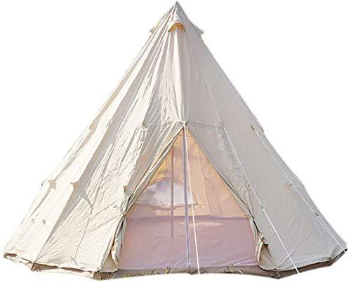 Lichtgewicht kampeertent, Winter Warm Tent Opvouwbare Tent Canvas Outdoor Camping Boerderij BBQ Dining Tent Dikker Regendicht Tent Draagbare Ijs Vissen Onderschuilplaats Draagbaar (kleur: Beige, Groot