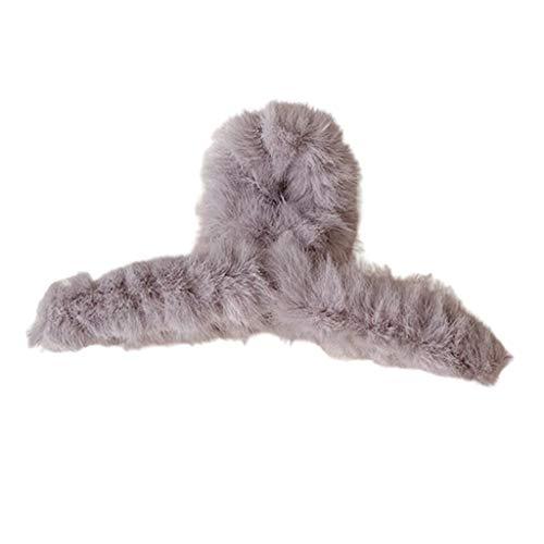 Horquillas para el pelo de invierno Fuzzy, de peluche, coloridas y esponjosas, para el pelo