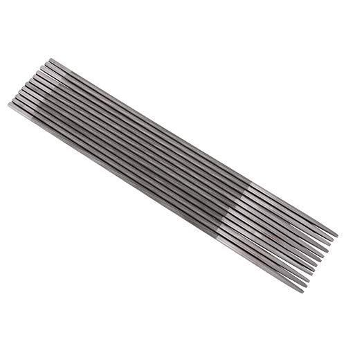 Lima de afilado, 12 piezas de limas de afilado de motosierra redonda para carpintería, lima de sierra de cadena 4 mm