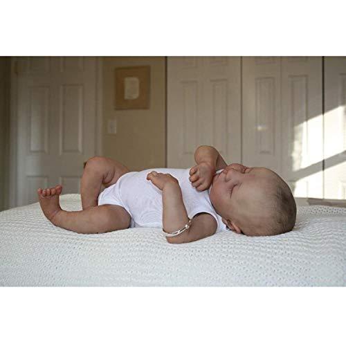 Yaceeng Reborn Baby Dolls 45cm 18inch Handmade Realistic Lifelike Baby Girl Boy Doll Newborn Sleeping Babies Kids Toy Gifts with Eyes Closed for Age 3+ (5#)