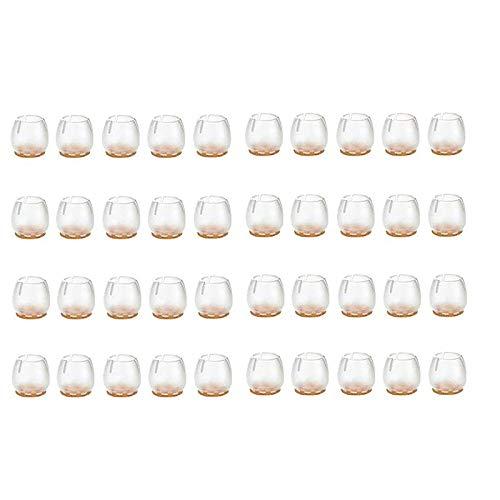 TaoToa 40 Teiliges Fu? Set 17-21 Mm Kratzfestes Silikon Kissen für M?Bel/StüHle, Stuhl Kissen zum Schutz Von Holz B?Den
